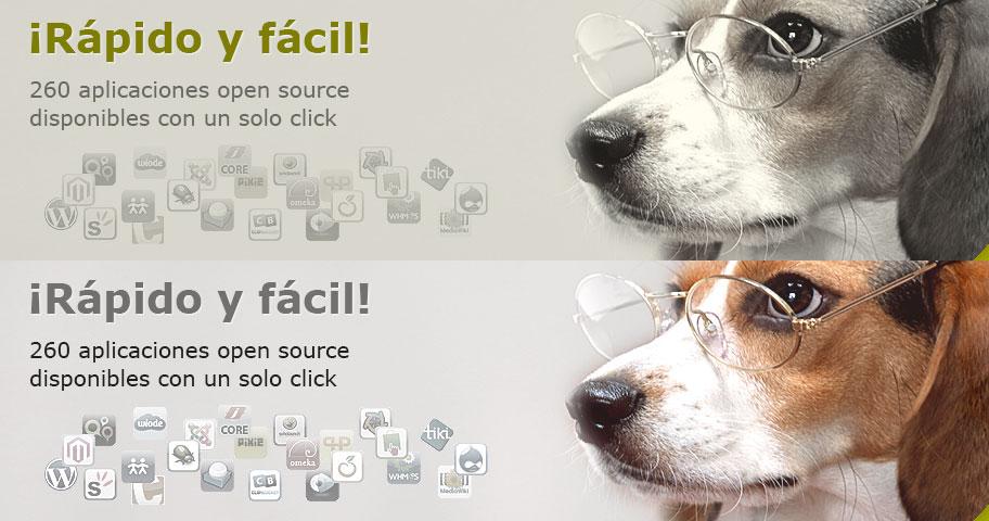 ¡Rápido y fácil! 260 aplicaciones open source disponibles con un solo click